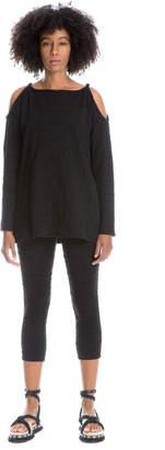 Max Studio textured cotton leggings