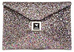 Kara Ross Exclusive Prunella Glitter Envelope Clutch