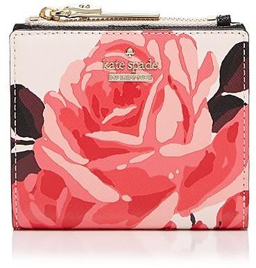 Kate Spadekate spade new york Cameron Street Roses Adalyn Leather Wallet