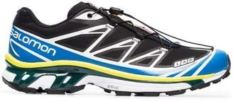 ADV Salomon S/Lab black, yellow and blue XT-6 sneakers