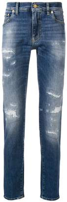 Dolce & Gabbana distressed regular-fit jeans