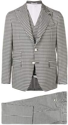 Gabriele Pasini check three-piece formal suit