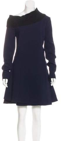 Christian Dior 2016 Angora-Accented Shift Dress