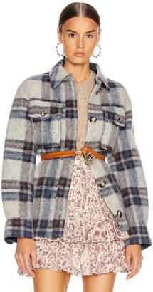 Etoile Isabel Marant Gaston Shirt in Ecru & Blue | FWRD