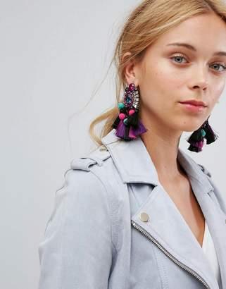 Aldo Woidien Multicoloured Tassel Statement Earrings