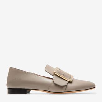 Bally Janelle Grey, Women's grained kid leather slipper in wheat