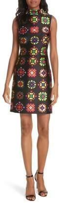 Milly Melinda Geometric Jacquard Sheath Dress