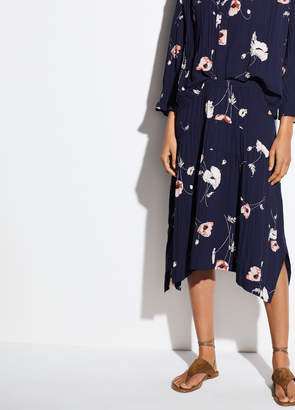 Tossed Poppy Pleated Skirt