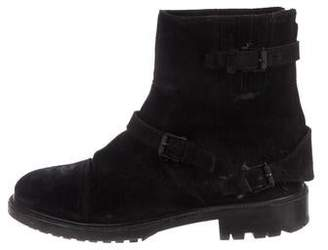 Belstaff Suede Round-Toe Ankle Boots
