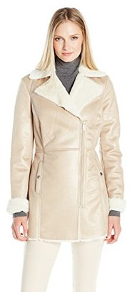 Kenneth Cole Women's Faux Shearling Coat $89.43 thestylecure.com