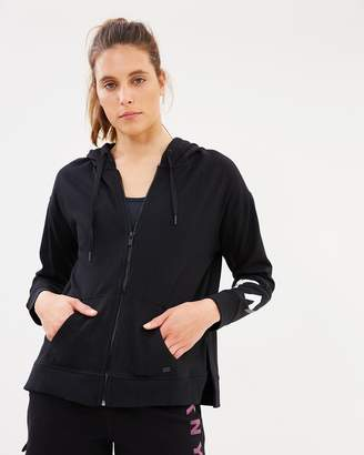 DKNY Zip Hooded Sweatshirt