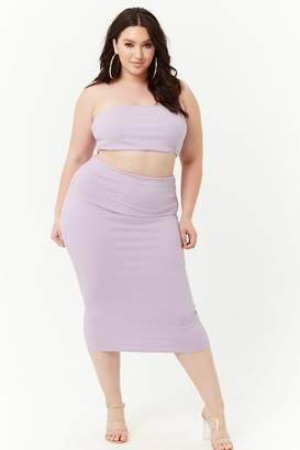 Forever 21 Plus Size Midi Skirt