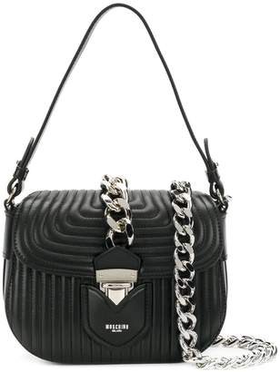 Moschino embossed design crossbody bag