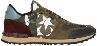 Valentino Rockrunner Camustars Canvas Sneakers
