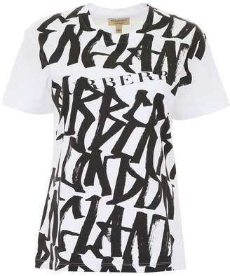 Burberry T-shirt With Graffiti Print