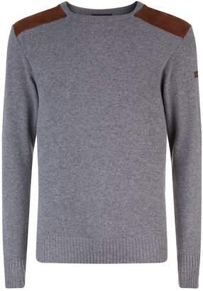 Paul & Shark Suede Panel Sweater