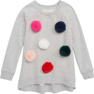 Tucker + Tate Removable Faux Fur Pom Tunic