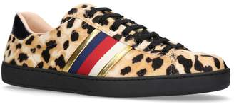 Gucci New Ace Leopard Print Sneakers