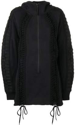 Kokon To Zai lace-up hoodie dress