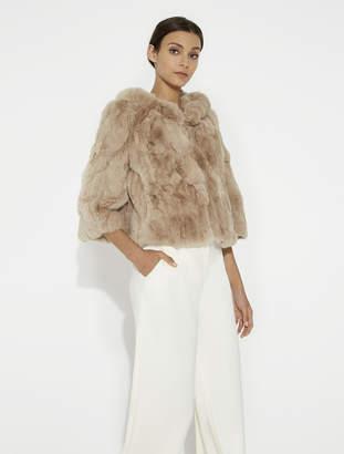 Halston Short Fur Coat