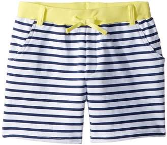 Toobydoo Navy White Stripe French Terry Camp Shorts Girl's Shorts
