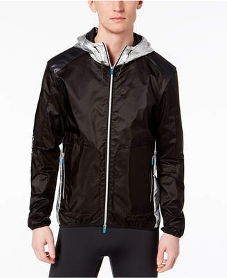 Armani Exchange Men's Metallic Hooded Windbreaker