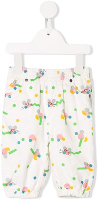 Stella McCartney mouse print trousers