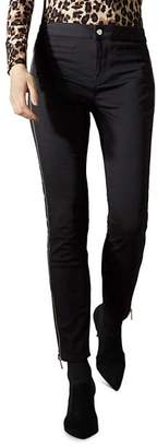 Karen Millen Side-Zip Skinny Jeans in Black