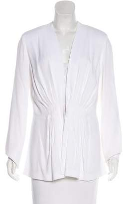 Cushnie et Ochs Pleated Collarless Blazer w/ Tags