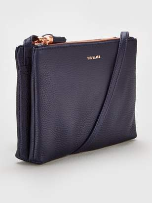 f35500f06 Ted Baker Double Zipped Cross Body Bag - Charcoal