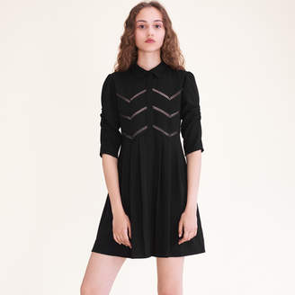 Maje Shirt dress with braid trim