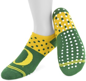 NCAA Women's Mojo Oregon Ducks Speckled No-Show Grip Socks