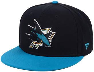 5a6b516e7 Authentic Nhl Headwear San Jose Sharks Basic Fan Fitted Cap