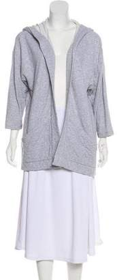 Eileen Fisher Hooded Open Front Jacket