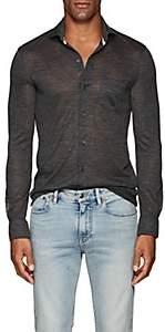 Isaia Men's Wool Jersey Shirt - Gray