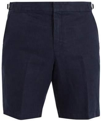 Orlebar Brown - Norwich Linen Shorts - Mens - Navy