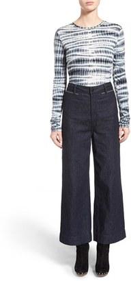 Women's Proenza Schouler Tie Dye Tissue Jersey Long Sleeve Tee $290 thestylecure.com