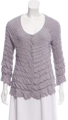 Philosophy di Alberta Ferretti Rouched Knit Cardigan