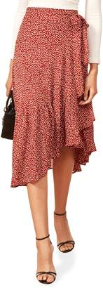Reformation Annaliese Wrap Skirt
