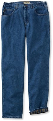 L.L. Bean L.L.Bean Men's Double LA Jeans, Flannel-Lined Natural Fit Comfort Waist