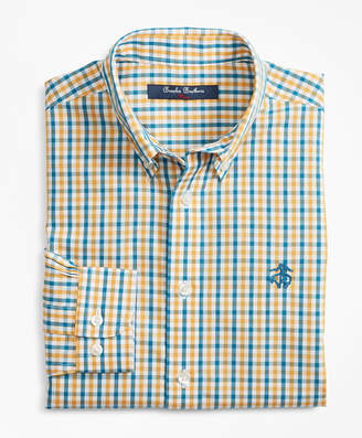 Brooks Brothers Boys Non-Iron Multi-Color Gingham Sport Shirt