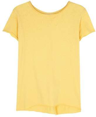 American Vintage Gami Yellow Cotton T-shirt