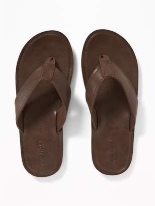Old Navy Faux-Leather Flip-Flops for Men
