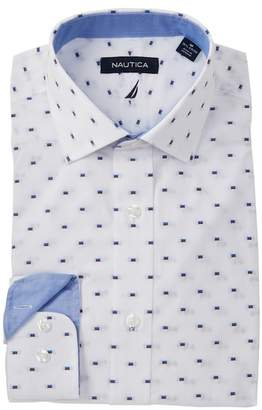 Nautica Dobby Stretch Classic Fit Dress Shirt