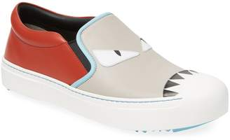 Fendi Women's Leather Slip-On Sneaker