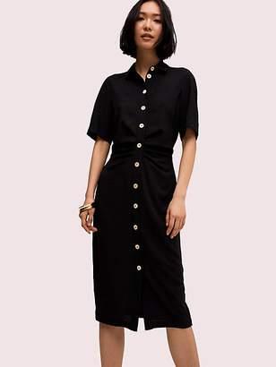 Kate Spade Button Front Shirtdress, Black - Size 0