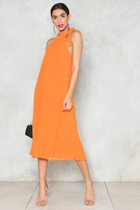 Nasty Gal Things Are About to Get Pleated Dress