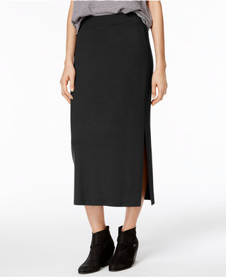 Eileen Fisher Stretch Jersey Pull-On Midi Skirt $138 thestylecure.com