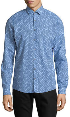 Pure Sunburst-Print Slim-Fit Cotton Sport Shirt