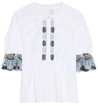 Peter Pilotto Cotton-blend blouse with lace
